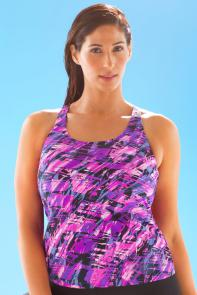 Chlorine Resistant Earthquake Racerback Top available from SwimsuitsForAll, Click for more Details