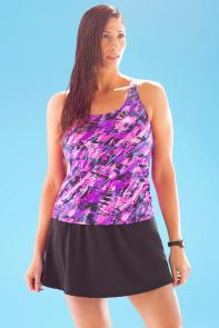 Chlorine Resistant Earthquake Racerback Skirtini available from SwimsuitsForAll, Click for more Details