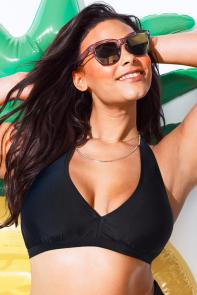 Black Halter Bikini Top available from SwimsuitsForAll, Click for more Details