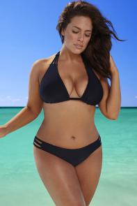 Black Triangle String Bikini Set available from SwimsuitsForAll, Click for more Details