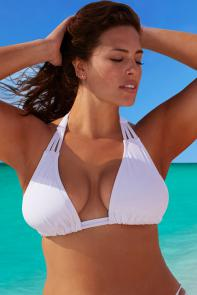 White Triangle Bikini Top available from SwimsuitsForAll, Click for more Details