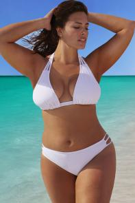White Triangle String Bikini Set available from SwimsuitsForAll, Click for more Details