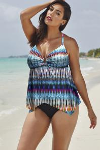 Majorca Handkerchief Tankini available from SwimsuitsForAll, Click for more Details