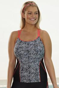 Chlorine Resistant Medley Racerback Top available from SwimsuitsForAll, Click for more Details