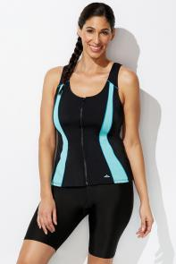 Lycra Xtra Life Mint Zip Vest Tankini Bike Short available from SwimsuitsForAll, Click for more Details
