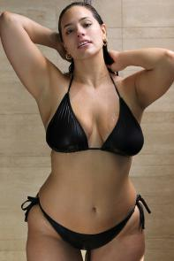 Ashley Graham Icon Black Bikini Set available from SwimsuitsForAll, Click for more Details