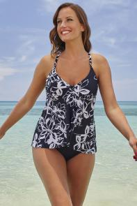 Berkshire Flyaway Underwire Tankini available from SwimsuitsForAll, Click for more Details