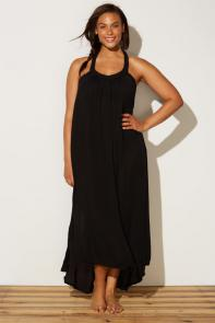 Candace Black Maxi Dress available from SwimsuitsForAll, Click here to visit their site.