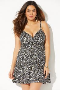 Tie Front Underwire Swimdress available from SwimsuitsForAll, Click for more Details