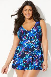 V-Neck Swimdress available from SwimsuitsForAll, Click here to visit their site.