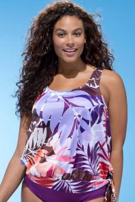 Tahiti Blouson 26-34 Top available from SwimsuitsForAll, Click for more Details