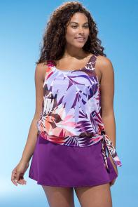 Tahiti Blouson 26-34 Skirtini available from SwimsuitsForAll, Click for more Details