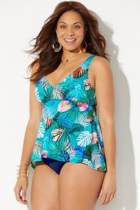 Flowy Tankini Set available from SwimsuitsForAll, Click here to visit their site.