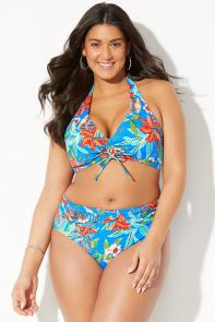 Maven Antigua Tie Front Halter Bikini available from SwimsuitsForAll, Click for more Details