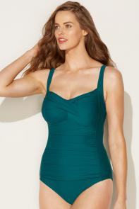 Mallard Twist-Front Swimsuit available from SwimsuitsForAll, Click here to visit their site.