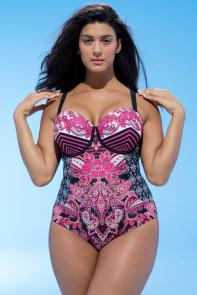 Mastermind Baroque Underwire Swimsuit available from SwimsuitsForAll, Click for more Details