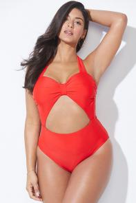 Rachel Roy x Swimsuits For All Cherry Twist Swimsuit available from SwimsuitsForAll, Click for more Details